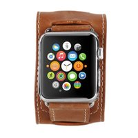 Wholesale 1 Set of Apple Watch Band Kades Soft Genuine Leather iWatch Band Strap Replacement for Apple Watch Sport Edition
