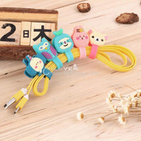 Wholesale Headphone Earphone Winder Earbud Silicone Cable Cord Wrap Organizer Holder for iPhone