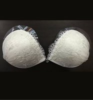 Wholesale Silicone Undergarments - 2016 Lace Strapless Bra Backless Invisible Self-Adhesive Silicone Breast Bra Pad For Summer Beach Wedding Bridal Undergarments Good