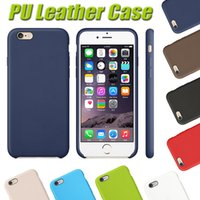 Wholesale 1 Original Copy Official Style Ultra Slim PU Leather Back Case Cover For iPhone Plus S S With NO Retail Package Free Ship