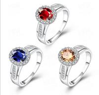 925 joyería de plata esterlina del corazón del anillo AAA anillos de las mujeres de la manera diamante de la CZ modelos de explosión de regalo al por mayor de la Navidad de alta calidad