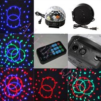 Wholesale 20W Fabulous DMX512 DJ Laser LED Color Change RGB Stage Lights Crystal Ball Effect Light Party Pub
