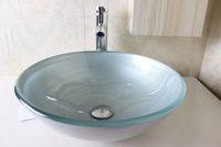 Wholesale Glass Basin Vanity bathroom wash sink Wash Basin Glass Bowl glass sink bowl bathroom furniture N