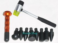 Wholesale For AUTO PDR Repair Tools Set Tap Down Pen Heads Rubber Hammer Paintless Dent Dent Repair Knock Down Tool