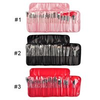 Wholesale 24Pcs Professional Makeup Brush set Black Pouch Bag Cosmetic Brushes color