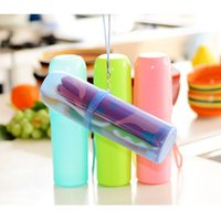 Wholesale ToothBrush Paste Holder Case Box Plastic Covered Protect Travel Camping Bathroom