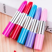 Wholesale New Creative Lipstick Shape Ballpoint Pens Writing Pens Toy Pen Stationery Material Escolar