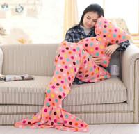 Wholesale 5SET LJJH1359 New Hot pillows blanket sets Cartoon bowknot pillows Cushion mermaid blankets cartoon mermaid Sleeping bag