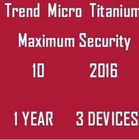 Cheap Trend Micro Titanium Maxmium Security 10 2016 2017 1 YEAR 3 PCS Legitimate And Genuine License Key Code