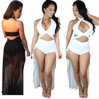 sexy night clothes - 2016 New Dress Sleeveless Split Gauze Splicing Sexy Dress One piece Swimwear Dress Night Out Club Dress Women Summer Clothes