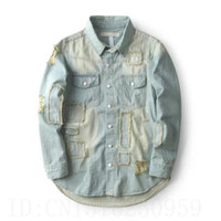 arc jacket - 2016 Justin bieber patch designs off white vintage hole jacket kanye west clothing Arc hem Splash ink process black blue coat