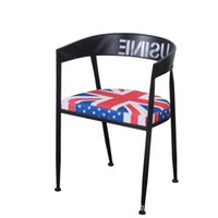 Wholesale New Arrival European style Furniture Cafe Chairs Casual Fashion Old Retro Dinette Dining Chairs High grade Iron Designer Cushion Bar Chairs