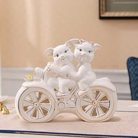 Wholesale practical orignality ceramics home decoration on TV bench with little pig