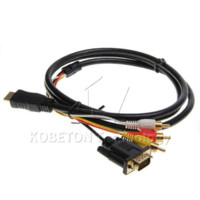 adapt transfer - High speed data transfer HDMI to VGA RCA Adapter Cable Cheap adapter code High Quality adapt clothing