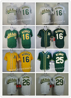 Wholesale Oakland Athletics baseball jersey Josh Reddick Mark Mcgwire Scott Kazmir Jeff Samardzija Cool Base gray green White MLB jersey