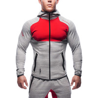 Wholesale New Gym Shark High Elasticity Hoodie Brand clothing Hoodies Men Embroidery Tracksuit Bodybuilding Fitness Sport Suits Sets