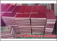Wholesale 32 pixel LED module P10 Semioutdoor single red mm led display module led running text led sign