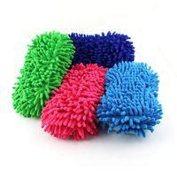 Wholesale Wash clean sponge sponge word coral sponge with chenille cleaning sponge car