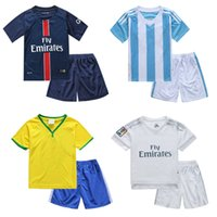 baby football uniform - 2016 Euro Cup New Children s Clothing Football Clothes Short Sleeved Suit Training Wear Uniforms Baby Set
