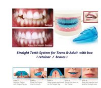 Wholesale A retainer Box Orthodontic Straight Teeth for Teens Adult Color Blue MO
