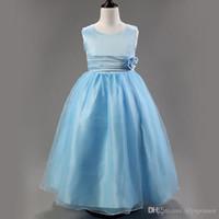 ballerina formal dress - retail cheap simple formal little girls ballerina purple light blue flower girl dresses for less affordable