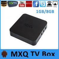 Wholesale 2016 MXQ Android TV Box Quad Core Amlogic S805 KODI Fully Loaded Smart TV Box Android MXQ OTT TV BOX Set