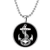 anchor quotes - Anchor Necklace Pendant Jewelry Quote Necklace Anchor Art Glass Pendant Quote Jewelry