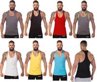 Wholesale New Arrival Gym Stringer Tank Top Men Gymshark Bodybuilding and Fitness Men s Singlets GYM Tank Shirts Sports Tank Top