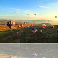 balloon wall framing - Dafen DL Art Piece Modern Hot Air Balloon Painting Wall Art Print on Canvas Decoration for Home and Bedroom set x60 CM