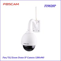 Wholesale Foscam FI9828P Wireless Outdoor PTZ IP Dome Camera x Zoom P degree View Sec Setup Security Monitoring IP Camera