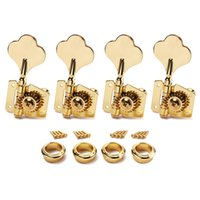 bass guitar gear - 4R Bass Guitar Machine Heads Tuners Open Geared Gold Tuning pegs keys For Fender Bass
