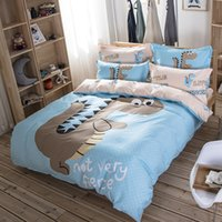 big blue machine - Big Jurassic new cotton cartoon bedding set three pieces for full size four pieces for queen size machine wash good color fastness