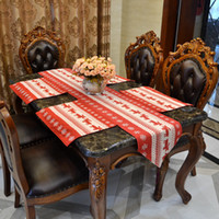Wholesale Christmas Holiday Table Runner Christmas Table Decoration Red Deer Pattern Table Runner Cotton Christmas cm Table Runner