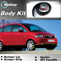 Wholesale Bumper Lip Lips For Audi A2 Front Skirt Deflector Spoiler For Car Tuning The Stig Recommend Body Kit Strip