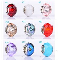 Wholesale Euramerican Popularity Diy Craft Charms Fit For Bracelet Necklace Big Hole Glass Beads Landing Charms