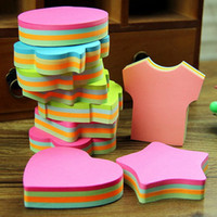 Wholesale Cute candy colored Korean version of the creative Postal notepad notes organizer notes office supplies stationery students