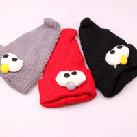 big accessories caps - Cartoon Fairy Children Hats Cute Big Eyes Winter Warm Wool Kids Caps Fashion Accessories for Christmas Hat Gift