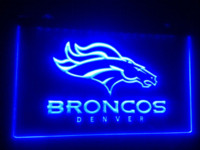 Wholesale b denver Broncos logo LED Neon Light Sign home decor crafts Cheap signs cold High Quality signs alcohol