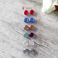 acrylic crystal ball - 12pcs Gem Magnet Brooches Inlay Brooch Muslim Pin Hijab Scarf Buckle Factory Price Color Romantic Mix