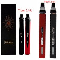 Cheap Original Titan1 Titan2 dry herb vaporizer pen herbalvaporizer hebe Electronic Cigarette Kit vaporizer mod Kit 2200mah vapor e cigar 1set lot