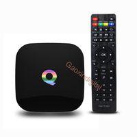Wholesale 2 GWifi BT4 Kodi supported NEW Q Android Box Amlogic S905 Quad Core GB GB Android5 Smart TV Box Media player pk G Box
