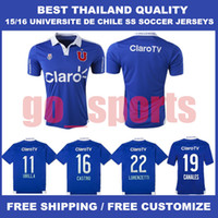 best chile - 15 Universidad de Chile Home Soccer Jerseys Soccer Jersey Best Quality CANALES LORENZETTI CASTRO UBILLA Soccer Jersey Football Jersey