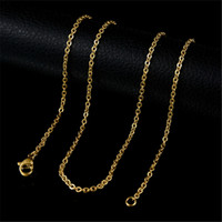 Wholesale Colors Accessories links for the Pendant Necklace Stainless Steel cross Chain With Lobster Clasp Basic Chains