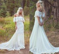 accent style - 2016 Elegant A Line Simple Style Wedding Dresses Off the Shoulder Lace Accents Bridal Gowns Vestidos De Novia
