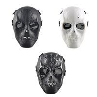 Proteger a paintball Baratos-Al aire libre del cráneo esquelético Paintball BB Full CS cara proteger la máscara de cascos de disparo de espuma acolchada dentro del protector del ojo completo de la cubierta al por mayor 2503054