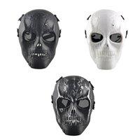 bb protect - Outdoor Skull Skeleton Paintball BB Full CS Face Protect Mask Shot Helmets Foam Padded Inside Eye Shield Full Cover