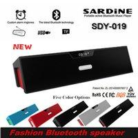 Wholesale Portable Wireless Bluetooth Speaker Original Sardine SDY Mini Hifi Stereo Sound Box With Mic FM Radio Support TF Card