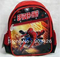 Wholesale by DHL UPS High Quality Spider Man Children s School Bag Rucksack Cartoon School Backpack G2324