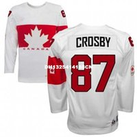 Cheap Retro throwback #87 SIDNEY CROSBY Team Canada Jersey OLYMPIC HOCKEY free shipping Customize any size player name number