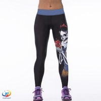 Wholesale Sexy Yoga Pants Women Fitness Tights D Print Sport Pants Running Workout Clothes For Women Skinny Elastic Skinny Yoga Leggings